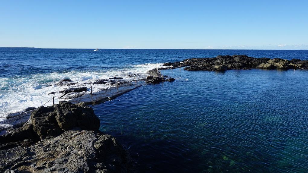 Natuurlijk zwembad nabij Kiama Blowhole