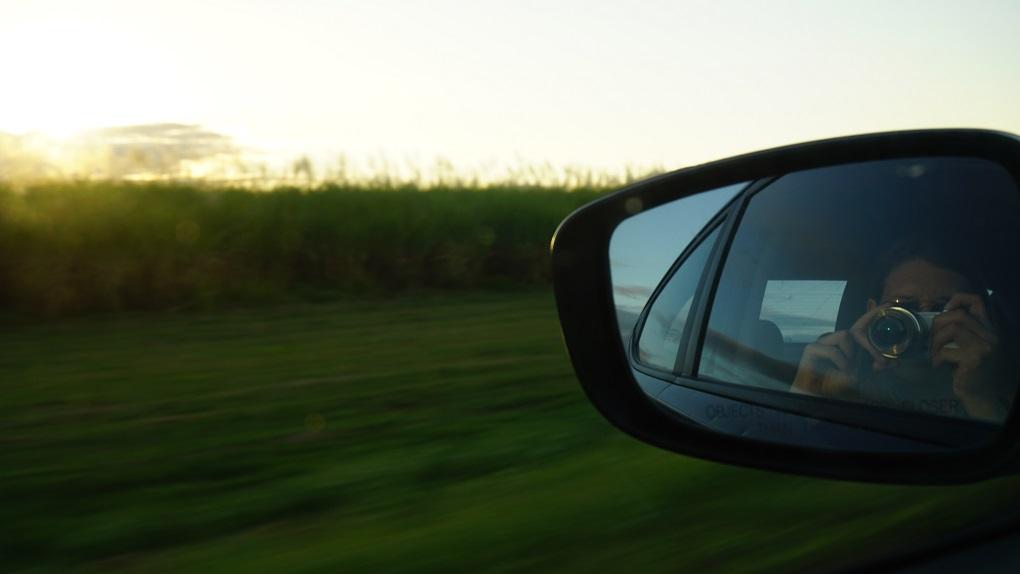Foto in autospiegel