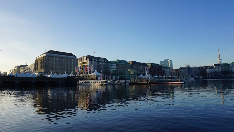 Alstermeren in Hamburg