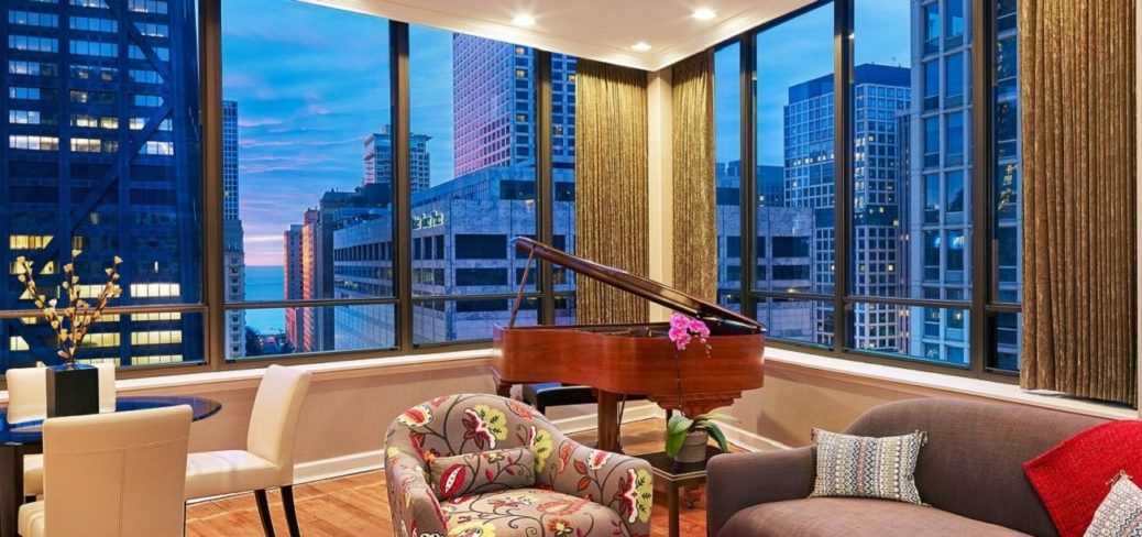 Grand Piano In Penthouse Suite The Tremont Chicago Hotel