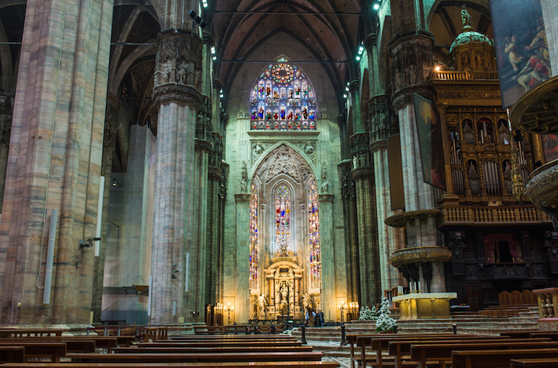 Interior of Duomo in Milan
