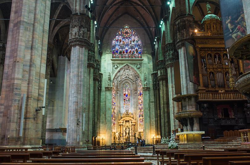 Interior of Duomo in Milan