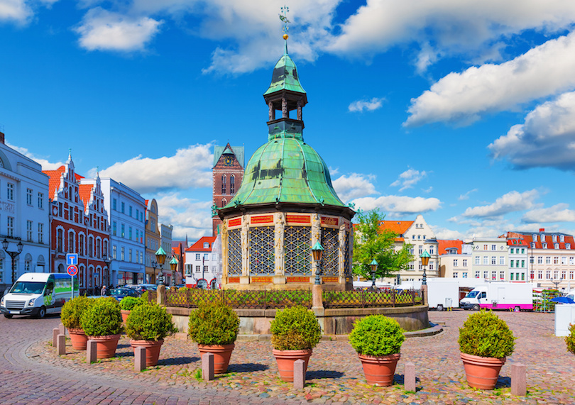 Market Square in the Old Town of Wismar