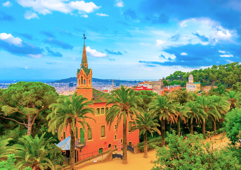 the house of Gaudi at the park Guell in Barcelona