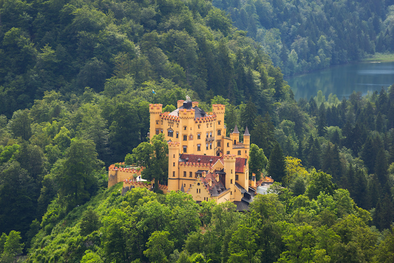 Hohenschwangau village and castle in the Bavarian Alps