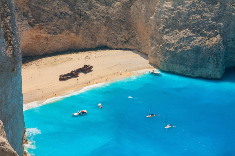 Shipwreck in Bay of Zakynthos Island, Greece