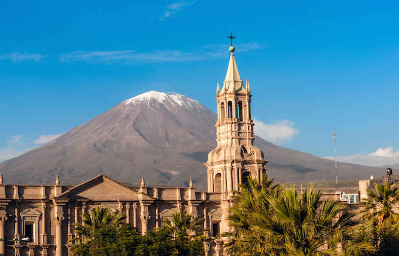 Volcano El Misti overlooks the city of Arequipa