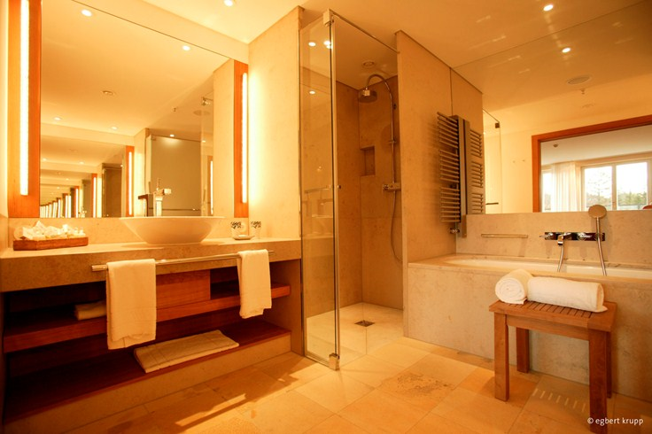 Marble Bathroom at Schloss Elmau (Image Source: The Leading Hotels of the World / lhw.com)