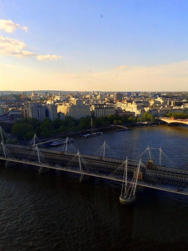 View London Eye Sunset