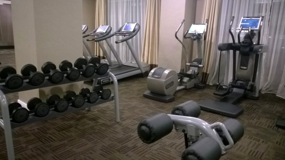 The fully equipped gym