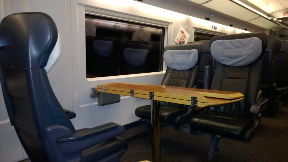I had a lot of space on my way to Leipzig