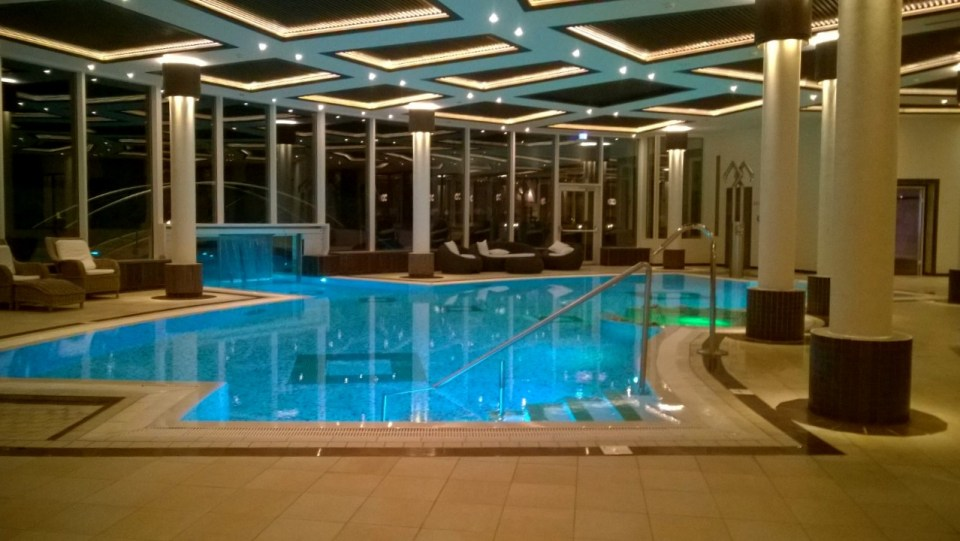 The hot indoor pool
