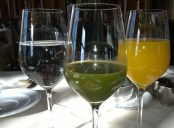 There were many juices offered at the Bellevue breakfast