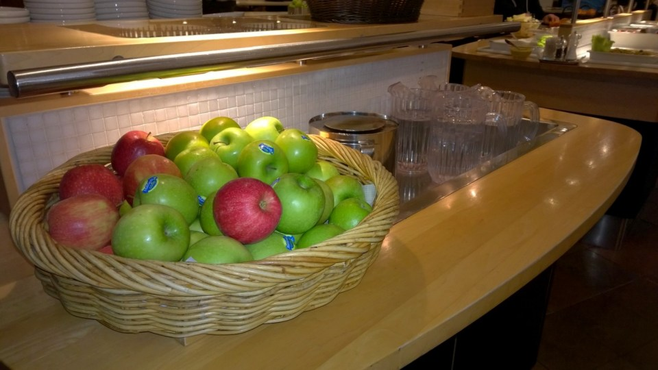 Fruits in the SAS Lounge at Copenhagen Airport