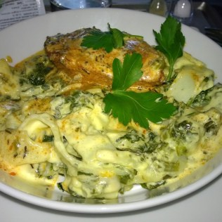Pasta with chicken breast