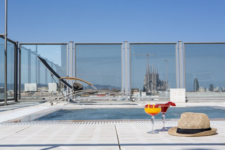 The penthouse offers a private pool