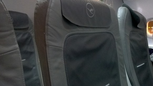 Recaro Seat in the Lufthansa A321