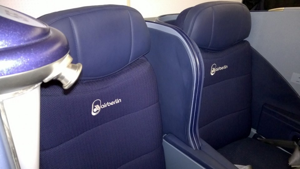 Business Class Seats at the Air Berlin A330-200