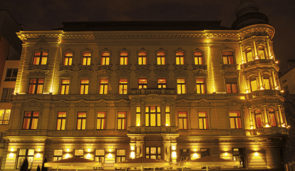 Exterior of Le Palais Prague (Image Source: Le Palais Prague - lepalaishotel.eu)