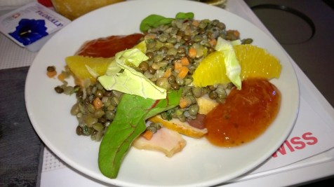 Lentil salad as a main dish
