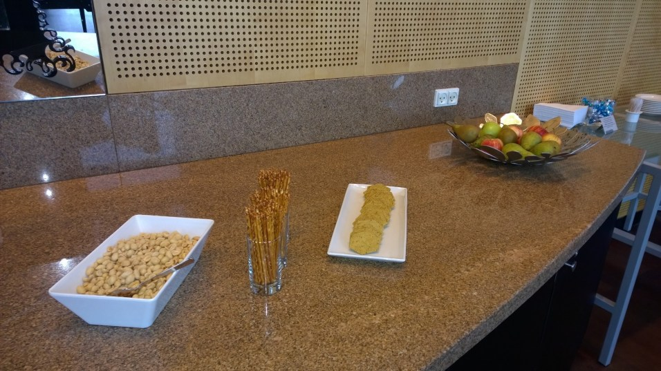 Snacks in the Executive Lounge