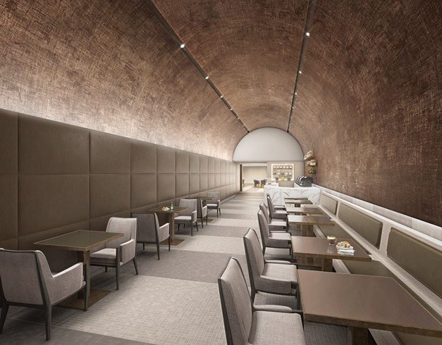 Looking like a subway tunnel: The Coffee Bar (Image Source: The Leading Hotels of the World / lhw.com)