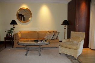 Seating Area in our Junior Suite at the Adlon Kempinski