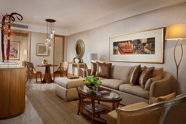 Living room of an Earl Suite at The Mulia Bali (Image Source: The Leading Hotels of the World / lhw.com)
