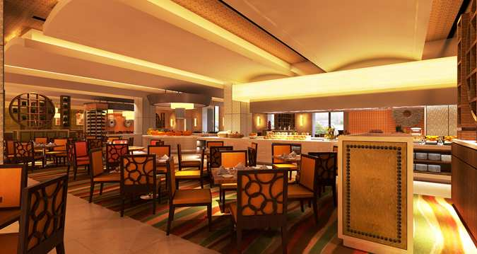 The all-day dining restaurant Strand (Image Source: Hilton Qingdau Golden Beach / hilton.com)