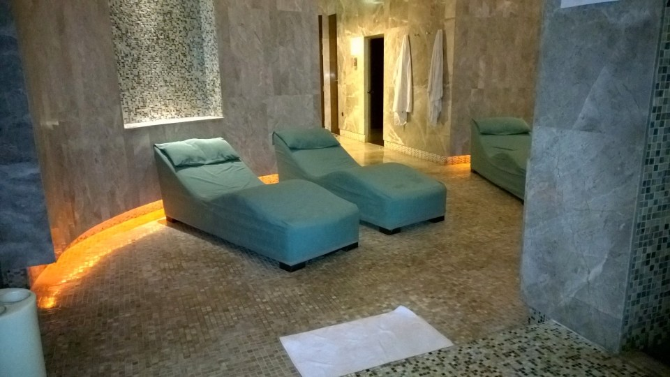 Lounging area in the Spa
