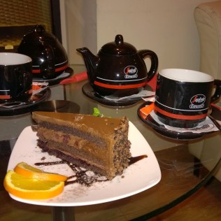 Tea and Cake at the Segafredo Café Gdansk