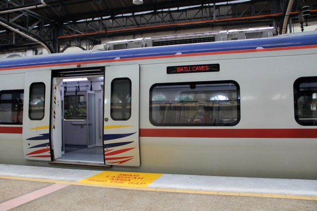 Most trains in KL are really modern
