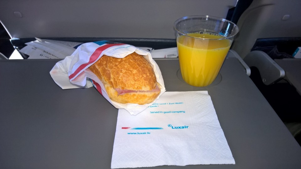 You may choose as many drinks as you want when flying Luxair