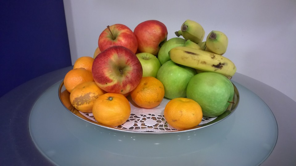 Choice of fruits in the BA Galleries Lounge Berlin