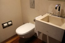 The Deluxe Suite also has a detached guest toilet