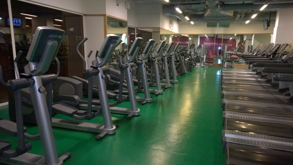Public gym that may also be accessed by hotel guests