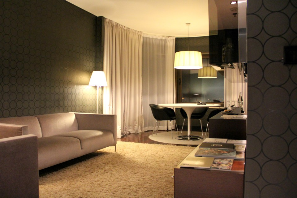 Living Room of the Deluxe Suite