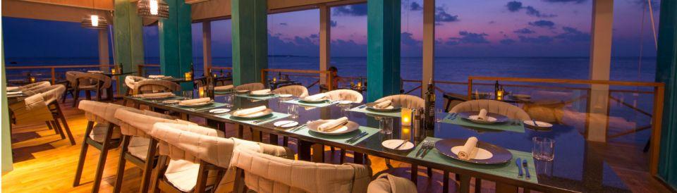 The Lonu Restaurant offers world-class cuisine (Image Source: Amilla Fushi / amilla.mv)