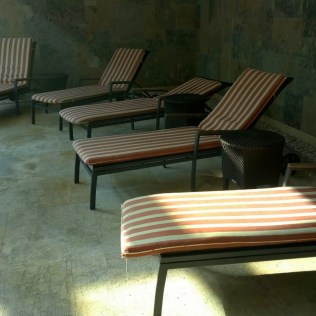 Sadly, there were only few loungers at the Spa