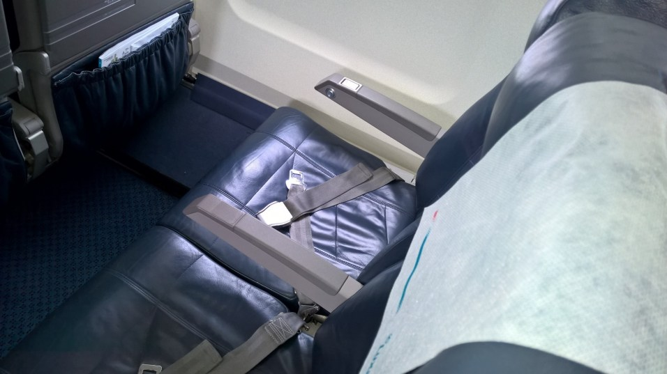Seats in a Luxair Embraer 190