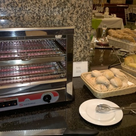 Bread choice at the breakfast buffet
