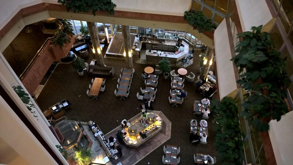 View on the restaurant of the Hilton Helsinki Strand