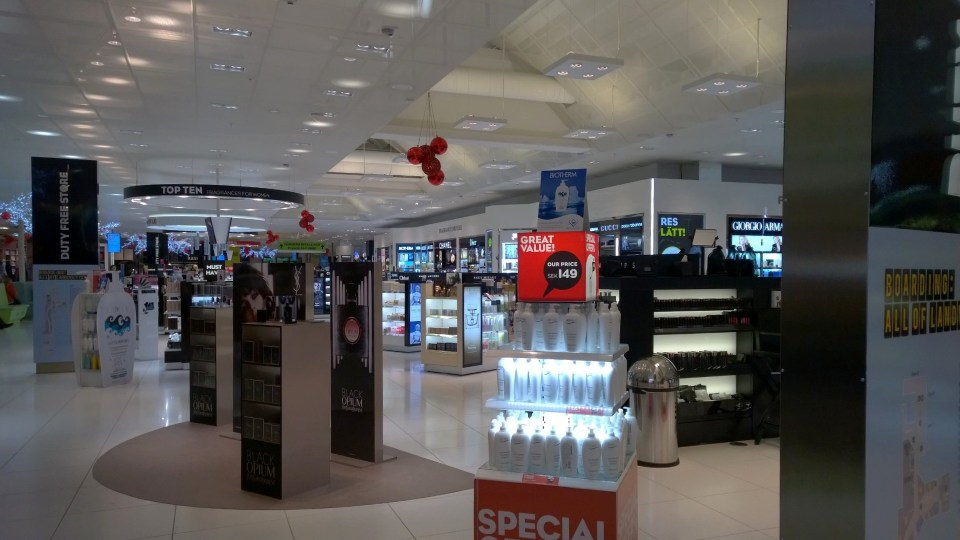 There is a large duty free shop at Gothenburg Airport