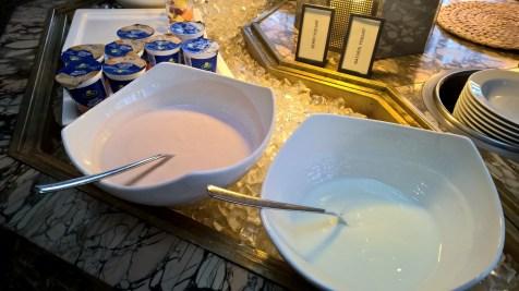 Joghurt at breakfast