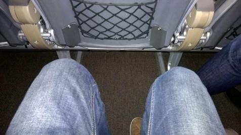 Decent seat pitch