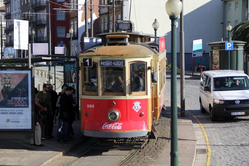 Trams in Porto are very historic