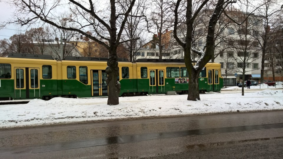 You can find trams pretty much everywhere in Helsinki