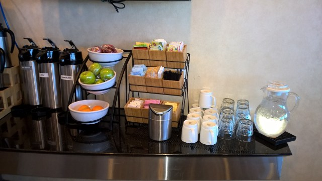Choice of fruits at the Admirals Club