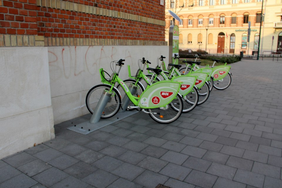 City bikes are an alternative means of transportat in Budapest