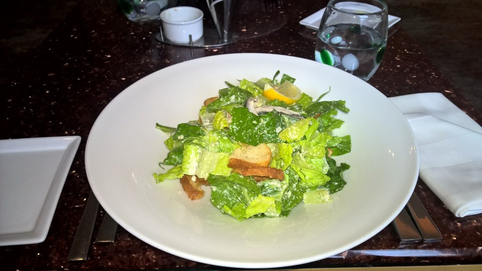 Traditional Caesar Salad at the Aragosta Bar and Bistro